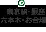 東京駅・銀座・六本木・お台場